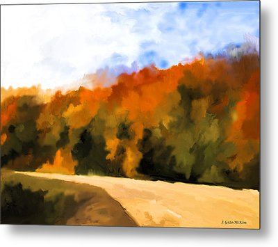Autumn Fringe Metal Print by Jo-Anne Gazo-McKim