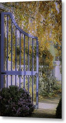 Autumn Garden Metal Print by Julie Palencia