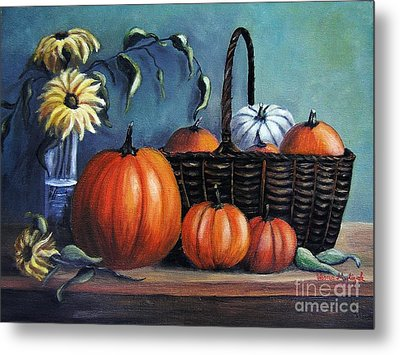 Metal Print featuring the painting Autumn Gifts by Vesna Martinjak