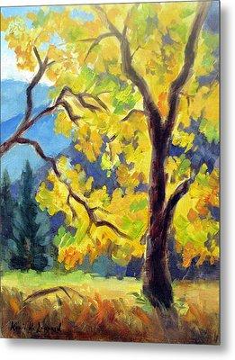 Autumn Gold Yosemite Valley Metal Print by Karin  Leonard