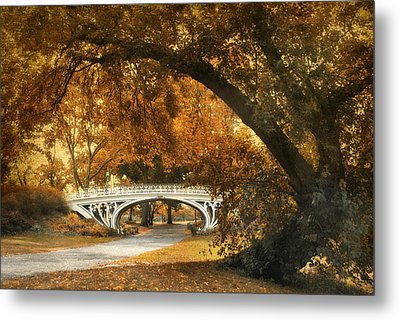 Autumn Gothic Metal Print by Jessica Jenney