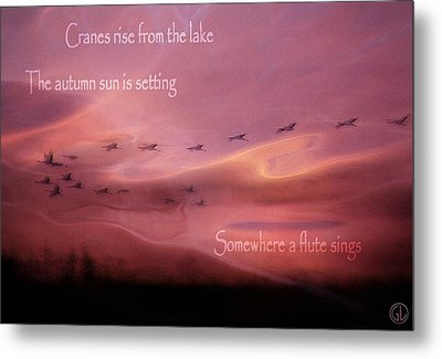 Autumn Haiku Metal Print