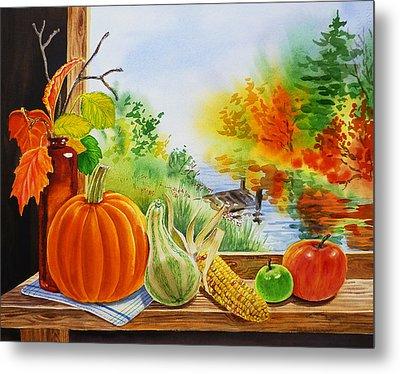 Autumn Harvest Fall Delight Metal Print