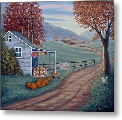 Autumn Harvest Metal Print by Fran Brooks