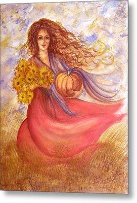 Autumn Harvest Metal Print by Sheri Lauren Schmidt