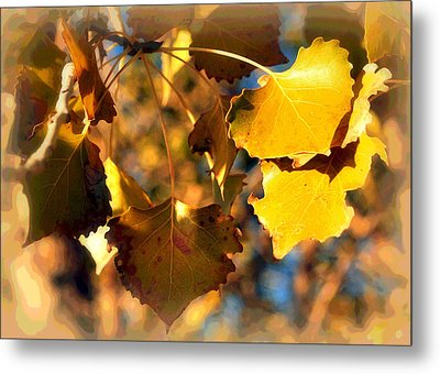 Autumn Hearts Metal Print by Lisa Holland-Gillem