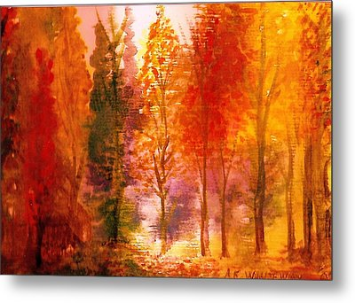 Autumn Hideaway Revisited Metal Print by Anne-Elizabeth Whiteway