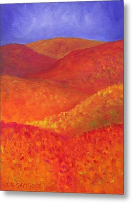 Autumn Hills Metal Print by Janet Greer Sammons