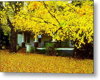 Metal Print featuring the photograph Autumn Homestead by Rodney Lee Williams