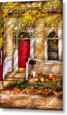Autumn - House - A Hint Of Autumn  Metal Print by Mike Savad