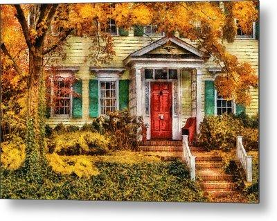 Autumn - House - Local Suburbia Metal Print by Mike Savad