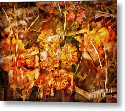 Autumn Impression Abstract Metal Print by Lutz Baar