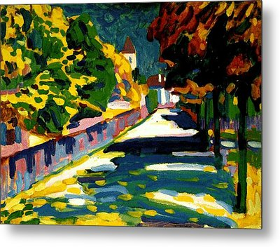 Autumn In Bavaria Metal Print by Wassily Kandinsky