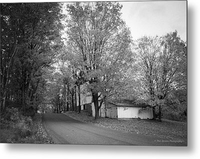 Metal Print featuring the photograph Autumn In Black And White by Phil Abrams
