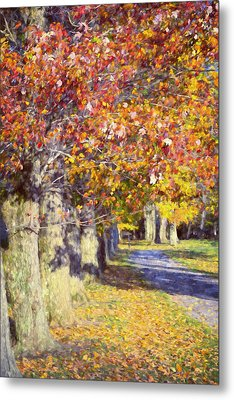 Autumn In Hyde Park Metal Print