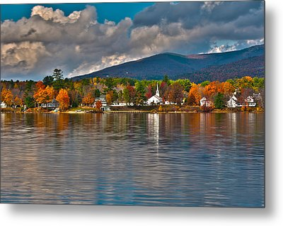 Autumn In Melvin Village Metal Print by Brenda Jacobs