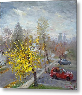 Autumn In Mississauga  Metal Print by Ylli Haruni
