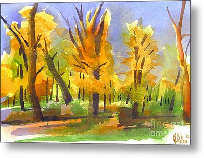 Autumn In The Forest Metal Print by Kip DeVore