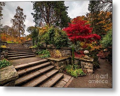 Autumn In The Garden Metal Print by Adrian Evans