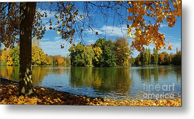 Autumn In The Park 2 Metal Print