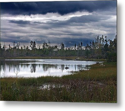 Autumn In The Salt Marshes Metal Print by George Cousins