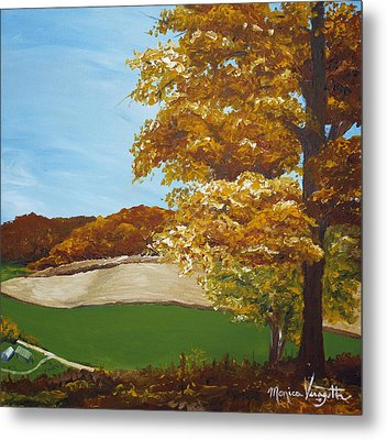 Autumn In The Valley Metal Print by Monica Veraguth