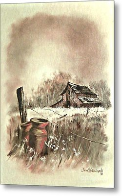 Metal Print featuring the painting Autumn In View At Mac Gregors Barn by Carol Wisniewski