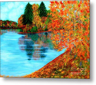 Autumn. Inspirations Collection. Metal Print
