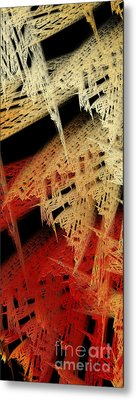 Autumn Lace Metal Print by Andee Design
