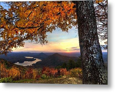 Autumn Lake Metal Print by Debra and Dave Vanderlaan