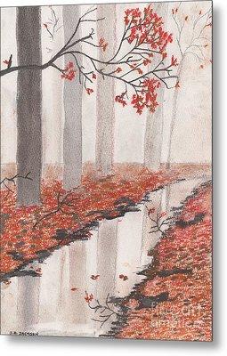 Autumn Leaves Metal Print by David Jackson