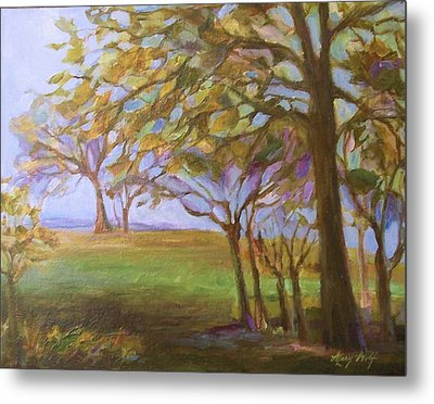 Metal Print featuring the painting Autumn Leaves by Mary Wolf