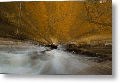 Autumn Light On Little River Metal Print