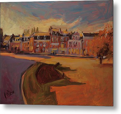 Autumn Light Over The Queen Emma Square Maastricht Metal Print