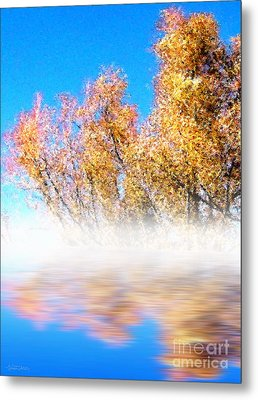 Metal Print featuring the photograph Autumn Mist by Cristophers Dream Artistry