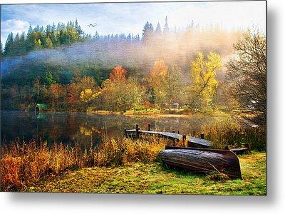 Autumn Mist Metal Print by Tom Schmidt