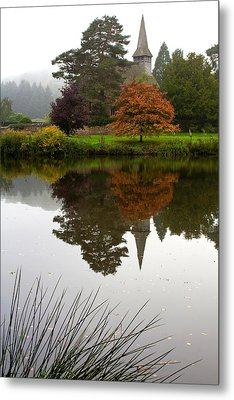 Autumn Mistyness Metal Print by Shirley Mitchell