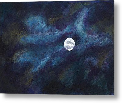 Autumn Moonscape Metal Print