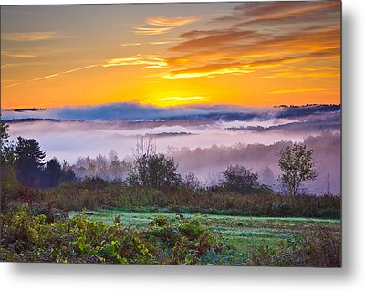 Autumn Morning In The Hills Metal Print