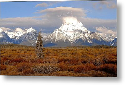 Autumn Morning In The Tetons Metal Print by Dan Sproul