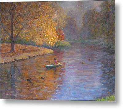 Autumn On Avon Nz. Metal Print by Terry Perham
