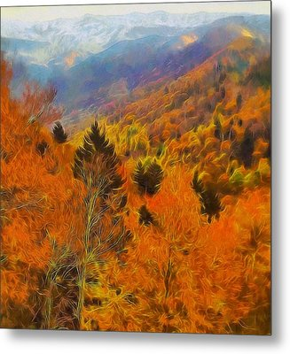 Autumn On Fire In The Mountains Metal Print