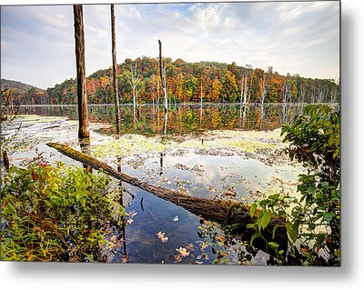 Autumn On Monksville Reservoir - Long Pond Ironworks Metal Print by Gary Heller