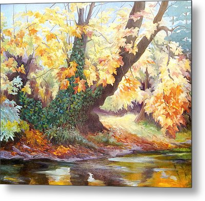 Autumn On The Darent Metal Print