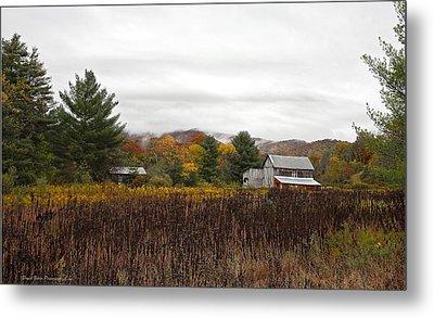 Autumn On The Farm Metal Print by Daniel Behm
