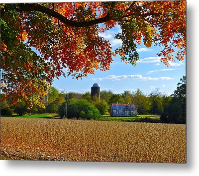Autumn On The Farm Metal Print