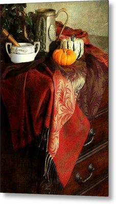 Autumn Pashmina Metal Print