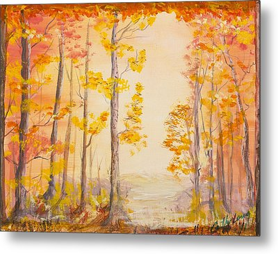 Autumn Path Metal Print by Cathy Long