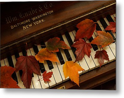 Autumn Piano 14 Metal Print