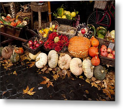 Autumn Produce Metal Print by Rae Tucker